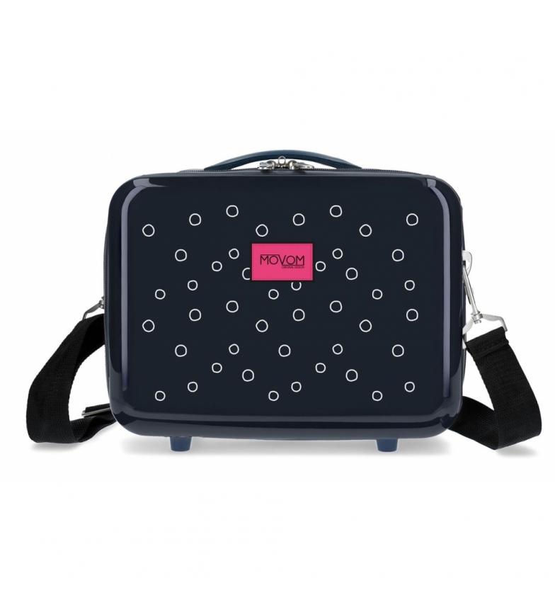 Comprar Movom Neceser ABS Movom Bubbles azul marino con logo Fucsia -29x21x15cm-