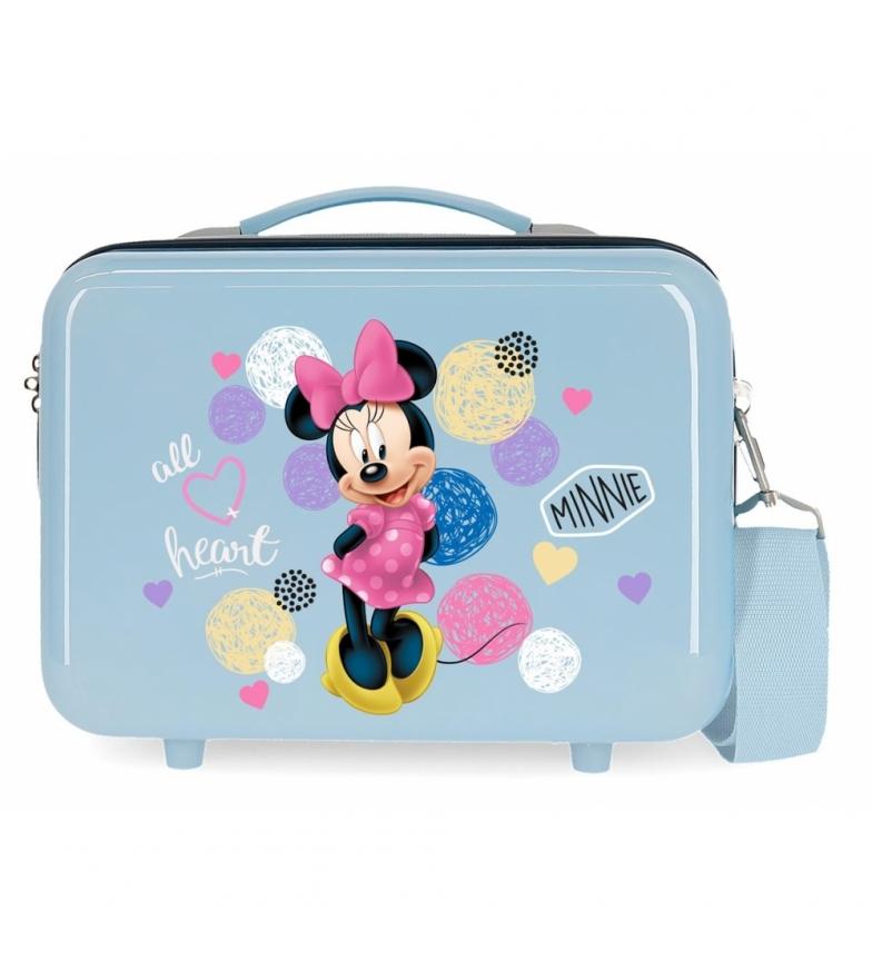 Comprar Minnie Neceser ABS Enjoy Minnie Heart  Adaptable Azul -29x21x15cm-