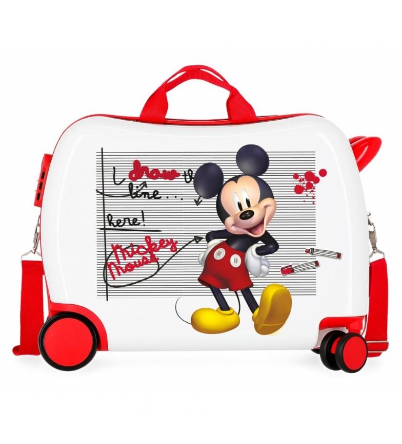 Comprar Mickey Mallette pour enfants 2 roues multidirectionnelles Mickey trace la ligne -38x50x20cm