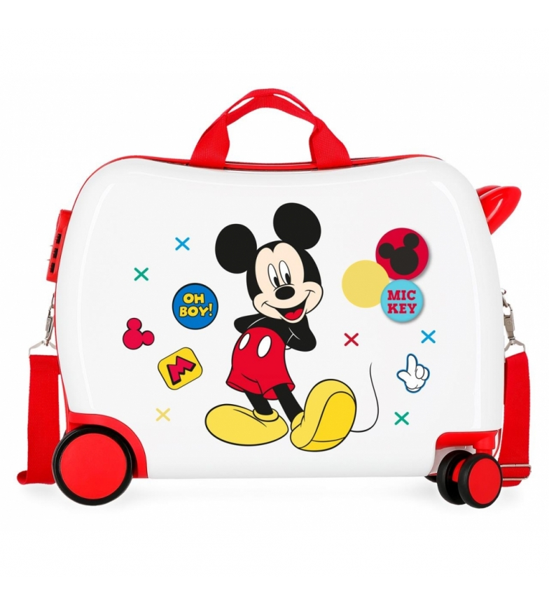 Comprar Mickey Mickey Enjoy the Day Oh Boy White Mallette pour enfants à 2 roues -38x50x20cm