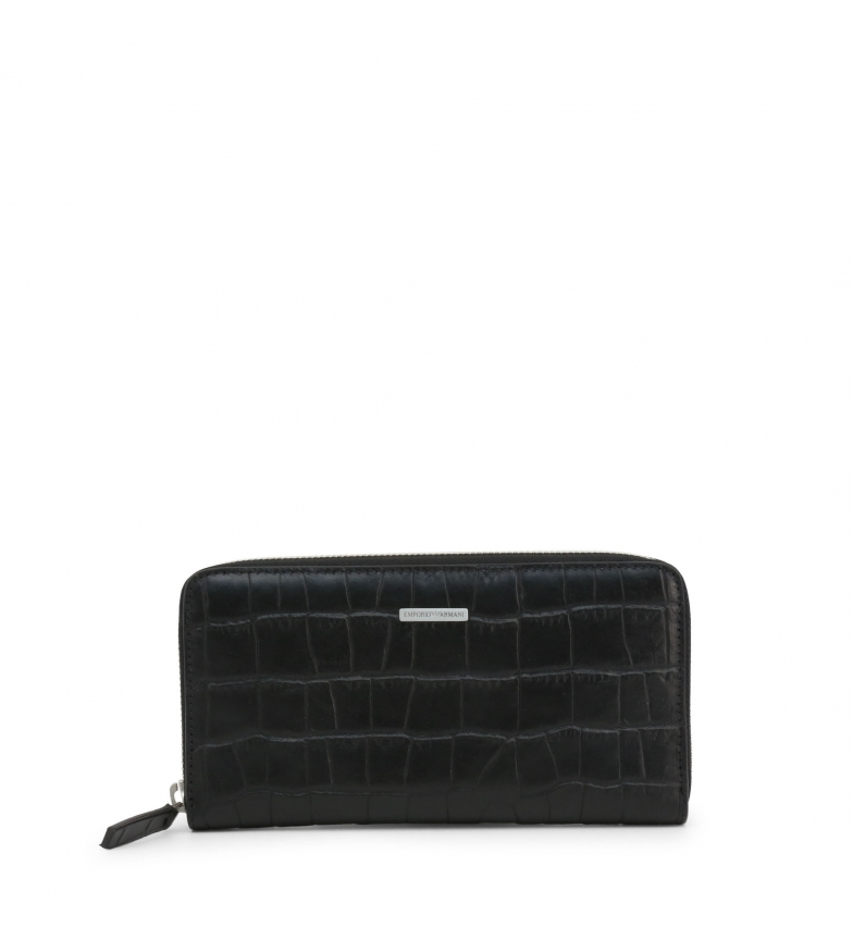Comprar Emporio Armani Leather wallet YEME49-YDE7E black