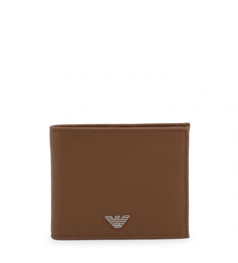 Comprar Emporio Armani Leather wallet YEM176-YAQ2E brown