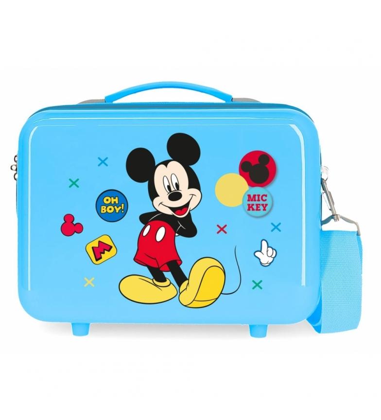 Comprar Mickey Trousse de toilette adaptable au chariot Mickey Enjoy the Day Oh Boy bleu -29x21x15cm