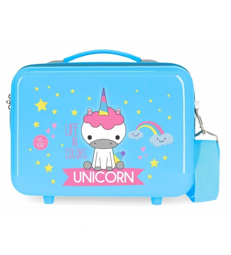 Comprar Roll Road ABS Roll Road Toilet Bag Little Me Unicorn Blue -29x21x15cm