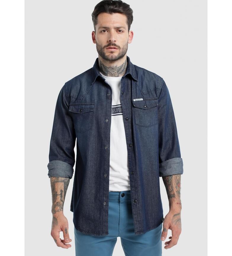 Comprar Six Valves Denim shirt Pockets Blue cover