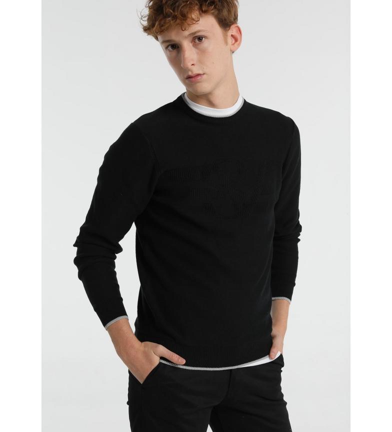 Six Valves Cotton sweater SV black