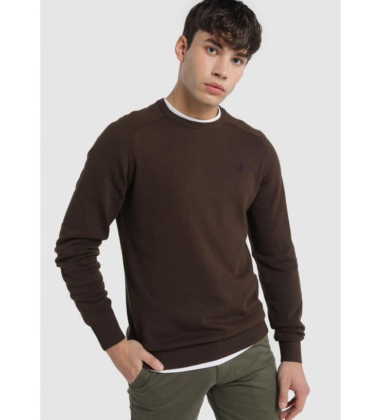 Comprar Lois Basic Sweater Sapel Corfu brown round neck