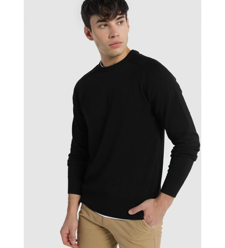 Comprar Lois Sapel Corfu round neck basic sweater black