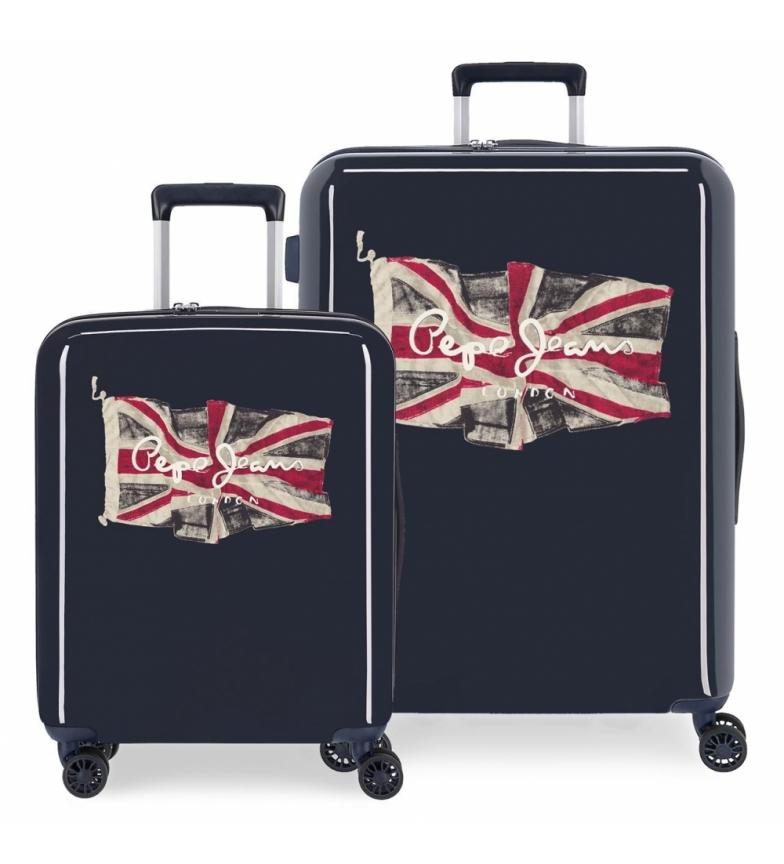 Comprar Pepe Jeans Pepe Jeans FLAG conjunto de malas rígidas 38,4L-81L azul marinho -55x40x20cm/70x48x28cm