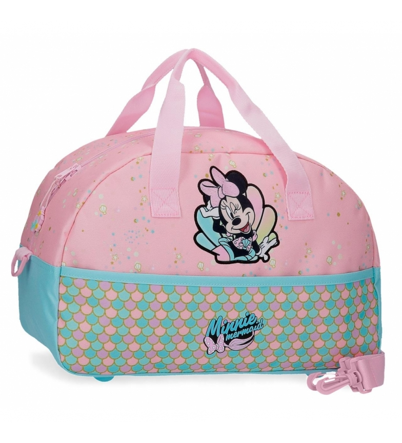 Joumma Bags Bolsa de viagem Minnie Mermaid rosa -40x24x18cm