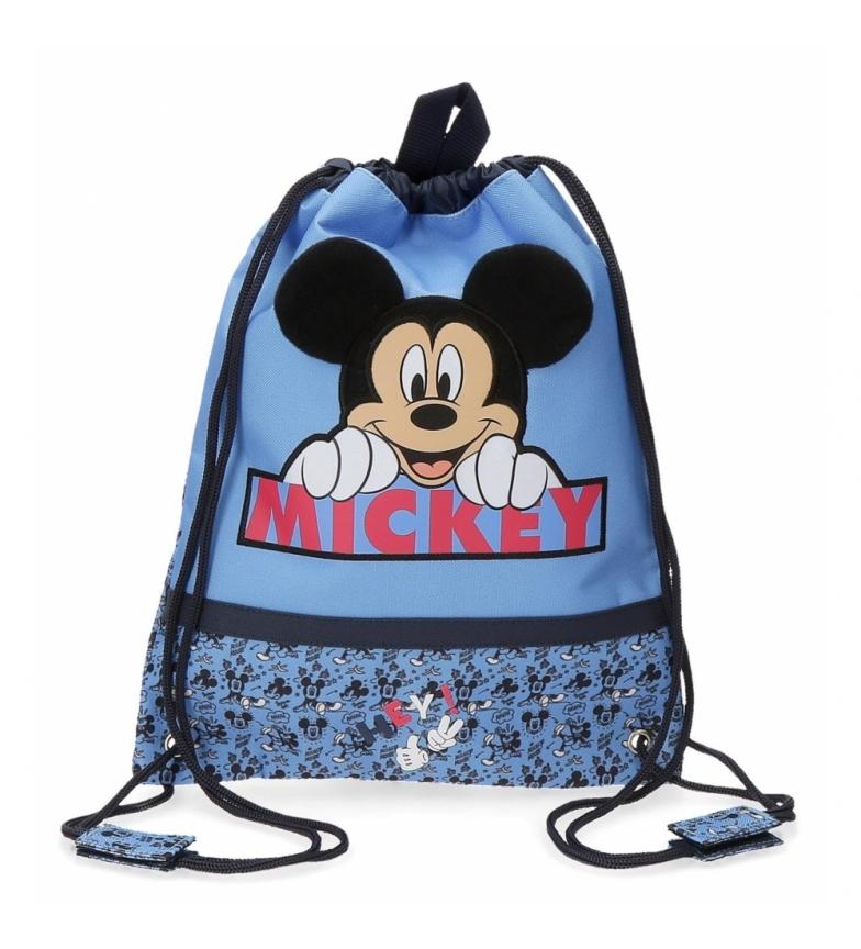 Comprar Mickey Saco de lanche azul Mickey Moods -27x34x0,5cm