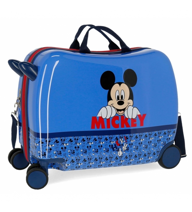 Comprar Mickey Ride Case Mickey Moods avec roues multidirectionnelles bleues -38x50x20cm