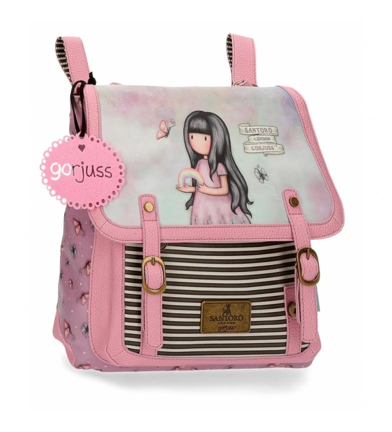 Comprar Gorjuss Em algum lugar mochila Gorjuss rosa com tiracolo -30x29x8cm