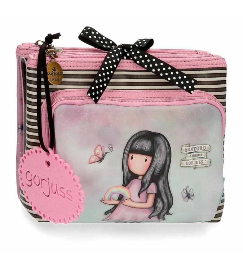 Comprar Joumma Bags Borsa da toilette Gorjuss tre scomparti Somewhere pink -27x17x10cm