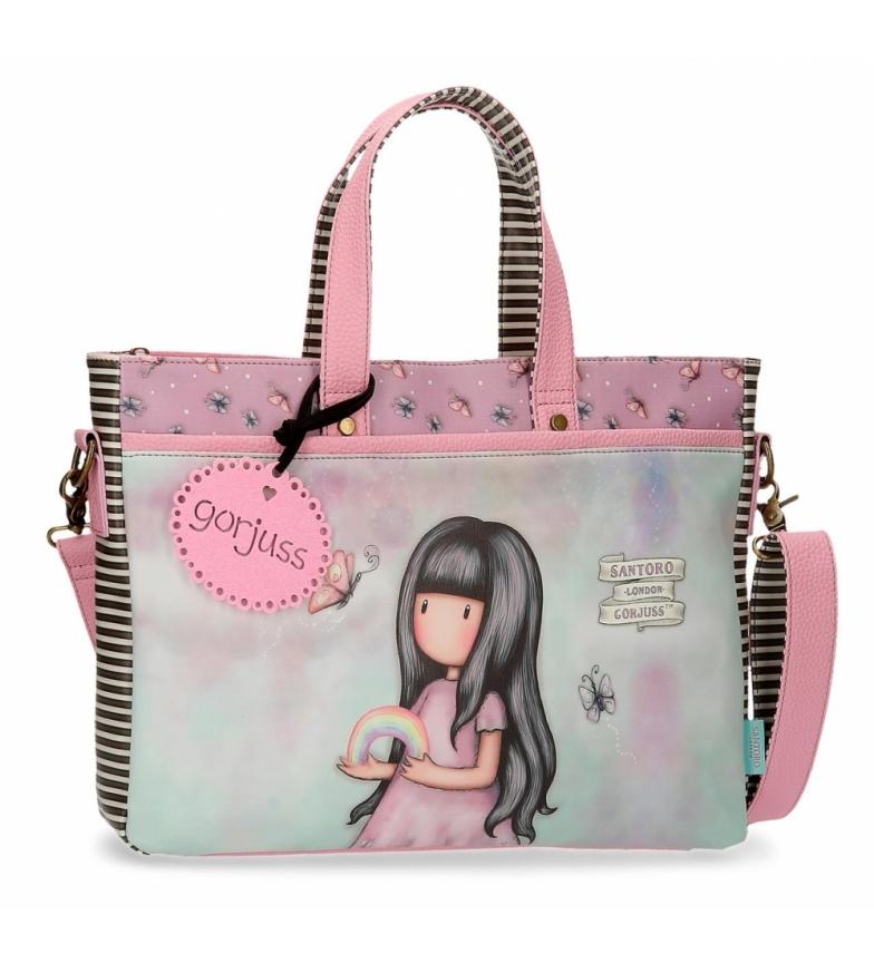 Comprar Gorjuss Da qualche parte borsa rosa Gorjuss portatile -39x28x6,5cm