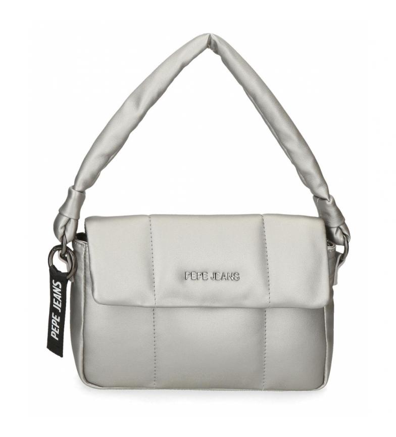 Comprar Pepe Jeans Pepe Jeans Bloat borsa a tracolla argento -26x16x7cm