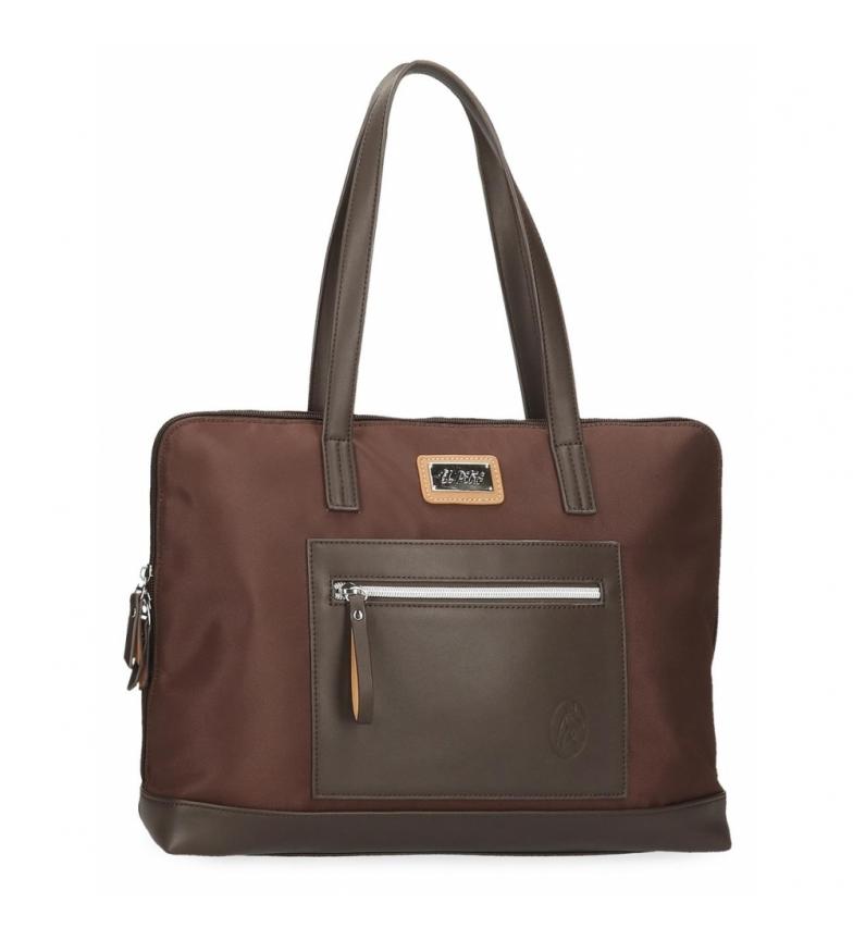 Comprar El Potro El Potro Chic sac d'ordinateur adaptable marron -38x28x9cm