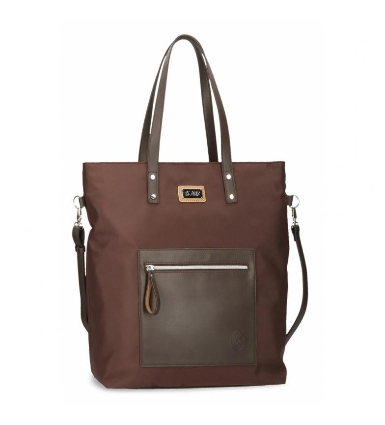 Comprar El Potro Shopper Bag El Potro Chic brown -35,5x40x12cm
