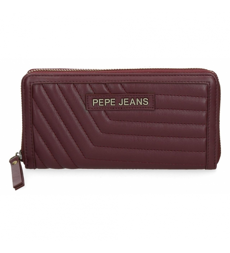 Comprar Pepe Jeans Pepe Jeans Amanda wallet with burgundy zipper -19,5x10x2cm