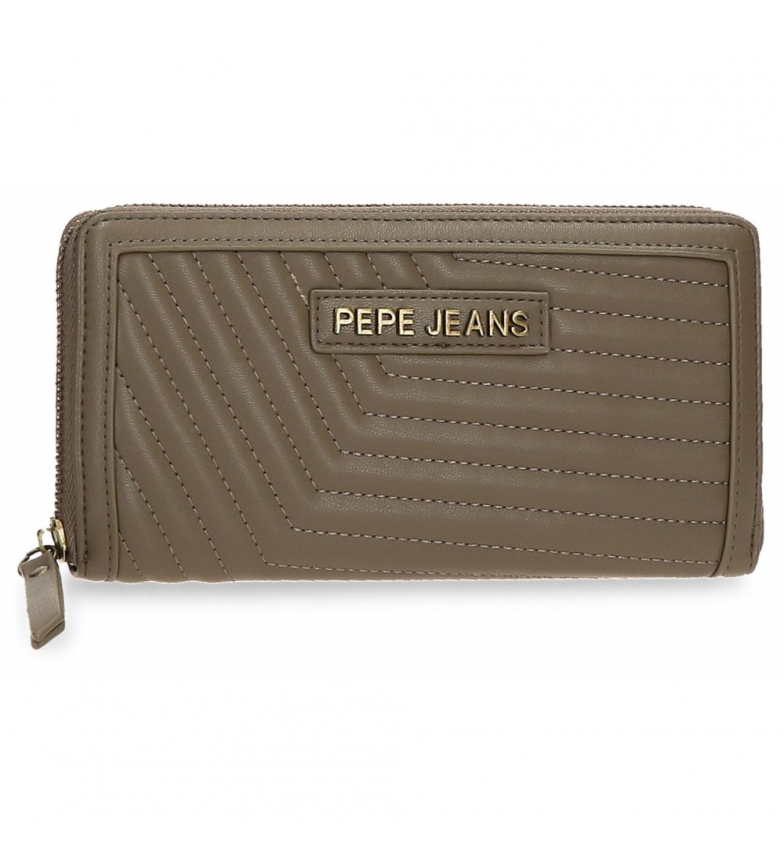 Comprar Pepe Jeans Pepe Jeans Amanda wallet with taupe zipper -19,5x10x2cm