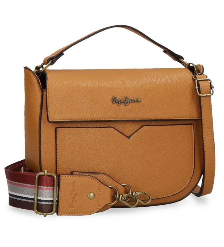 Comprar Pepe Jeans Pepe Jeans India shoulder bag with brown flap -29x19x6cm