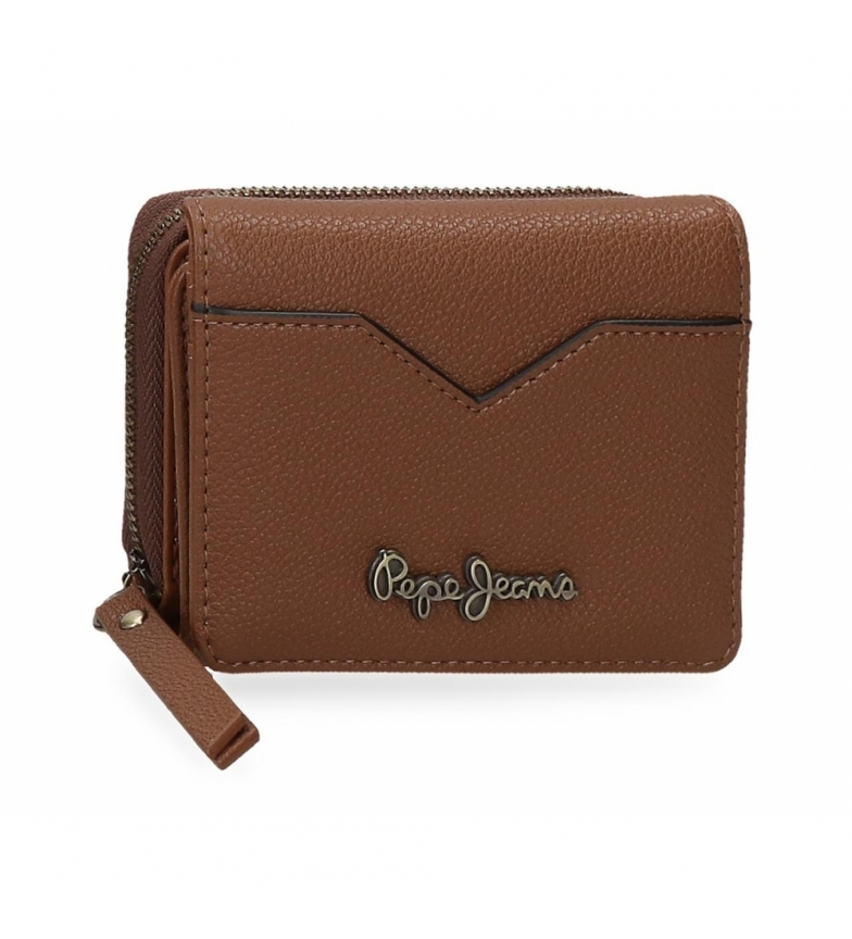 Comprar Pepe Jeans Pepe Jeans India wallet with brown coin purse -10x8x3cm
