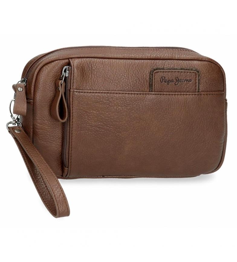 Comprar Pepe Jeans Bolso de mano Pepe Jeans Wilton marrón -24,5x15x6cm-