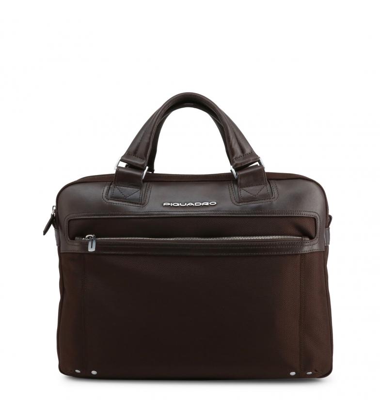 Comprar Piquadro Leather briefcase CA3339LK2 brown -40x30x8cm