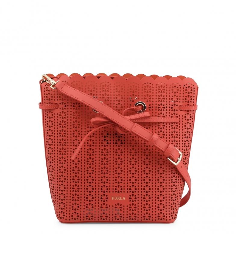 Comprar Furla Saco de couro do Costanza Baik Costanza saco de ombro vermelho -29x26x13cm