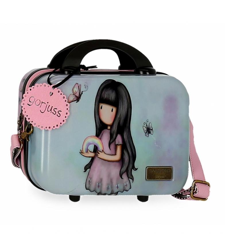 Joumma Bags Beauty case in ABS Gorjuss adattabile al trolley Somewhere -29x21x15cm- grigio