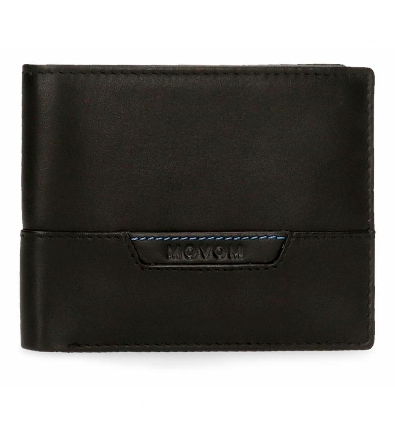 Comprar Movom Billetera de piel Highway horizontal con Billetera extraíble negro -11x8,5x1cm-
