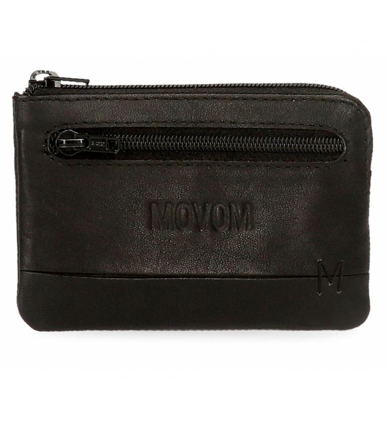 Movom Fantasy black leather wallet -11x7x1,5cm