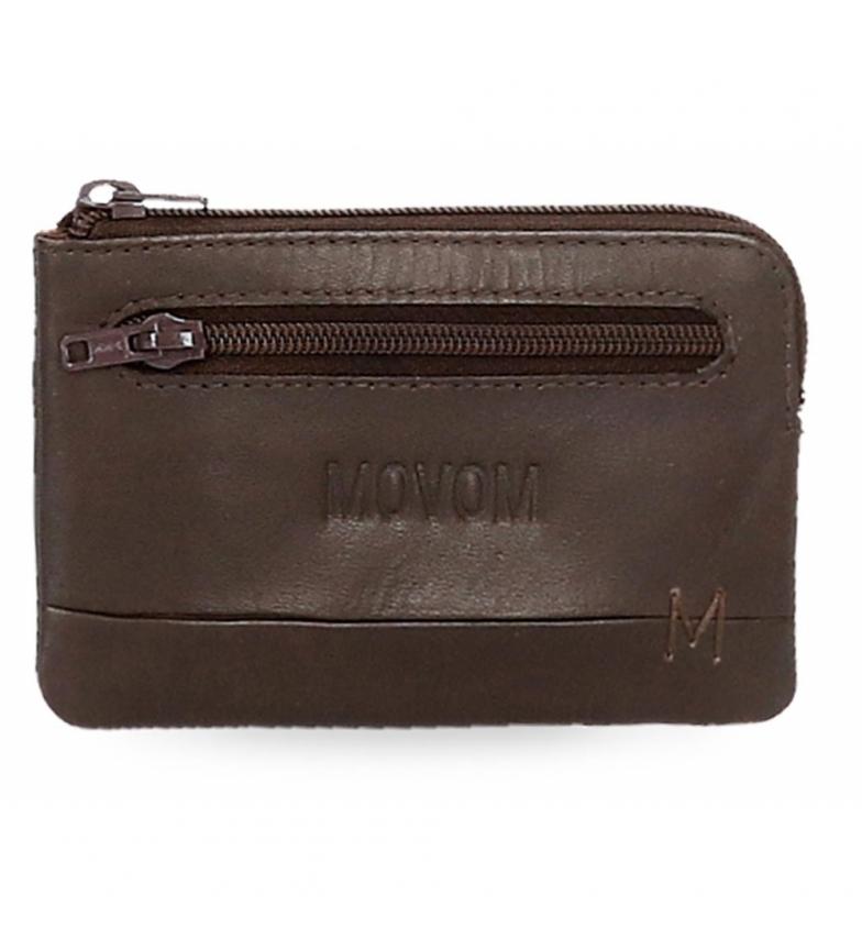 Comprar Movom Monedero de piel Fantasy marrón -11x7x1,5cm-