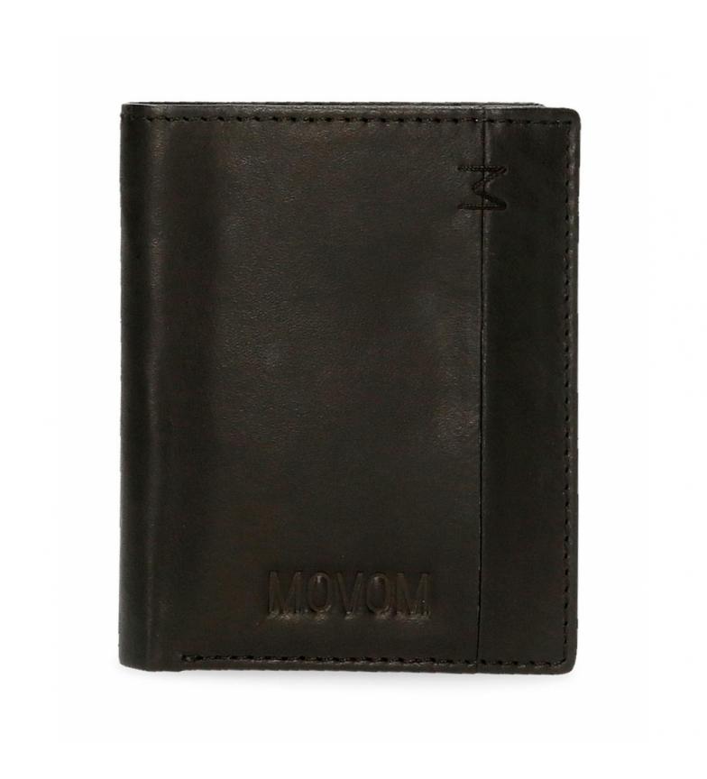 Comprar Movom Portefeuille de fantaisie en cuir noir vertical -8,5x10,5x1cm