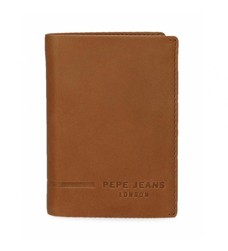 Comprar Pepe Jeans Portefeuille en cuir Pepe Jeans Ander vertical avec portefeuille camel -8,5x11,5x1cm
