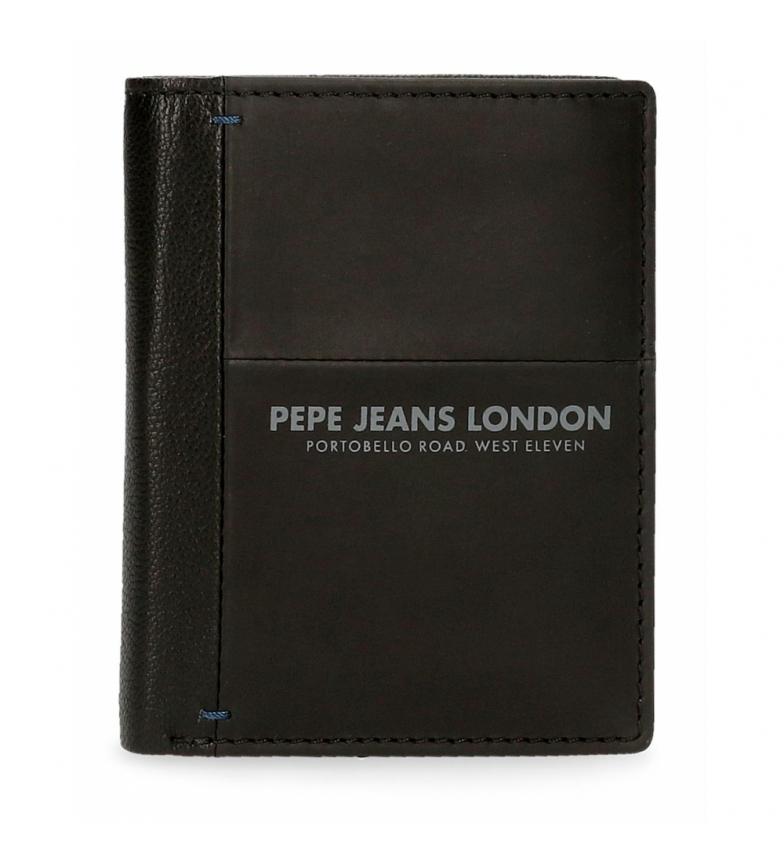 Comprar Pepe Jeans Cartera de piel Pepe Jeans Cutted vertical negro  -8,5x10,5x1cm-