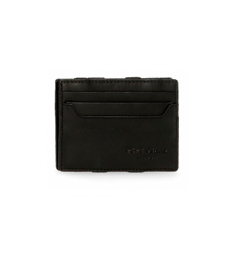 Comprar Pepe Jeans Pepe Jeans Portafoglio in pelle scura con portacarte nero -9,5x6,5x1cm