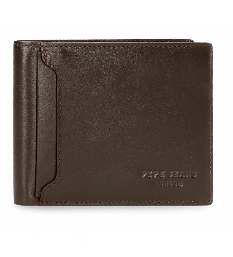 Comprar Pepe Jeans Portefeuille en cuir Pepe Jeans foncé horizontal avec portefeuille marron -12,5x9,5x1cm