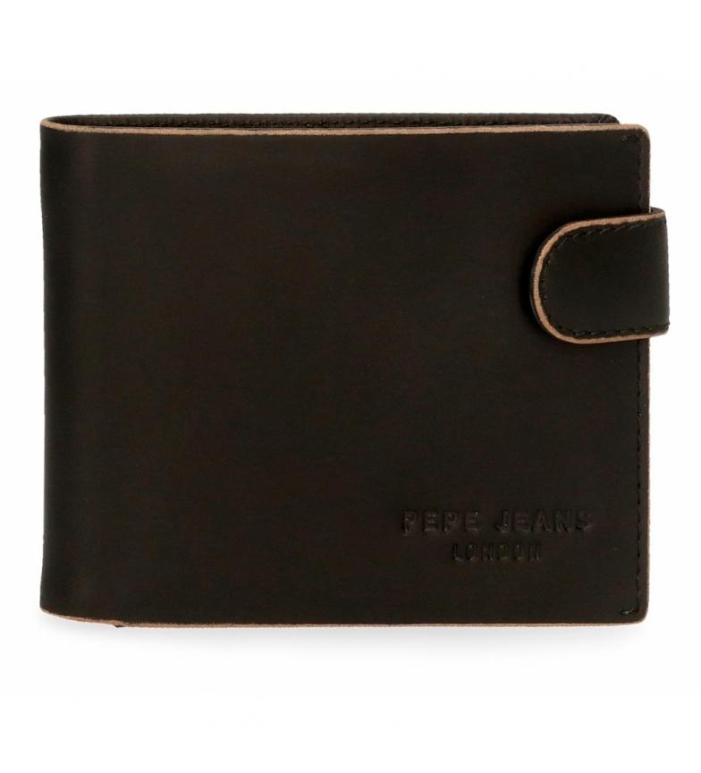 Comprar Pepe Jeans Pepe Jeans Portefeuille horizontal en cuir gratté avec fermeture à clic noir -11x8,5x1cm