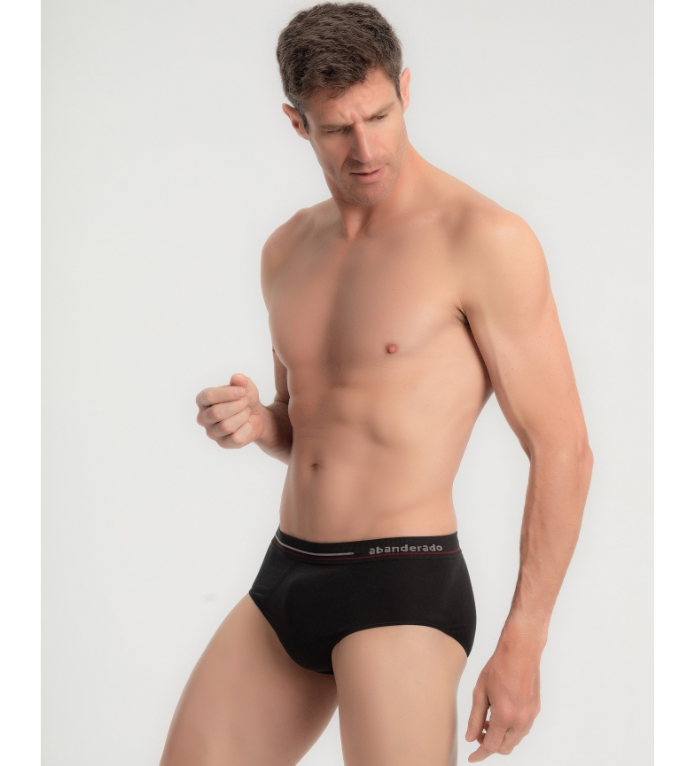 Comprar Abanderado Chinelo de Algodão Sem Costura Masculino em Preto