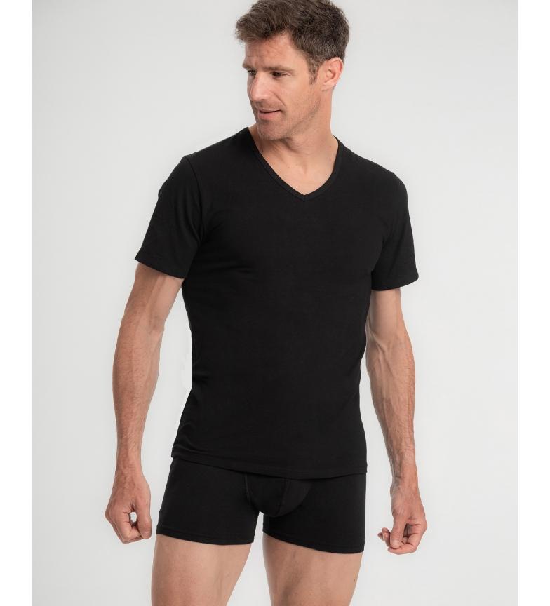 Abanderado T-shirt interna in cotone pettinato Real Softness in nero