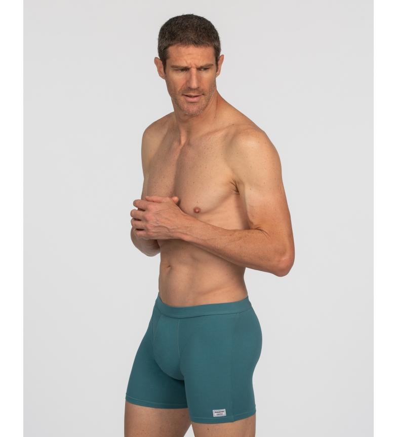 Comprar Abanderado Embalagem de 2 boxers abertos de algodão orgânico Cinzento marinho, verde
