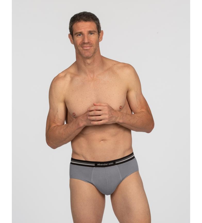 Abanderado Chinelo de homem cinzento com cintura extra macia