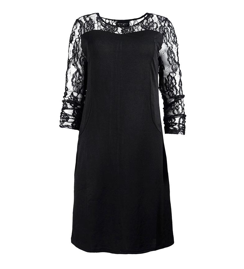 Ada Gatti Vestido Kato negro