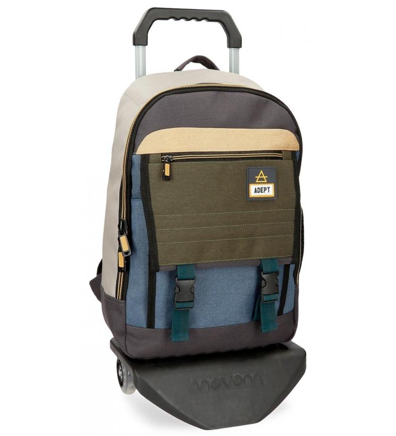 Comprar Adept Adept campista 42cm mochila computador de 13,3 polegadas com carrinho -32x44x16cm-