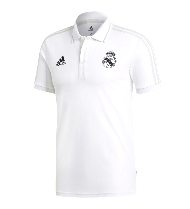 adidas-Polo-Real-Madrid-Hombre-chico-Blanco-Deportivo-Multideporte-Futbol miniatura 11