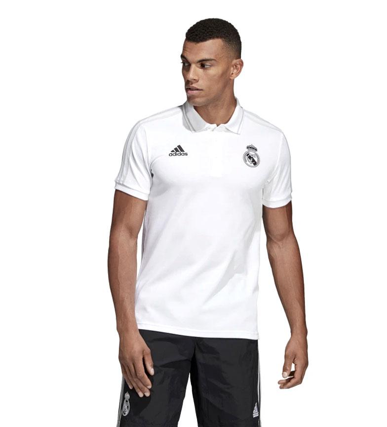 adidas-Polo-Real-Madrid-Hombre-chico-Blanco-Deportivo-Multideporte-Futbol miniatura 12
