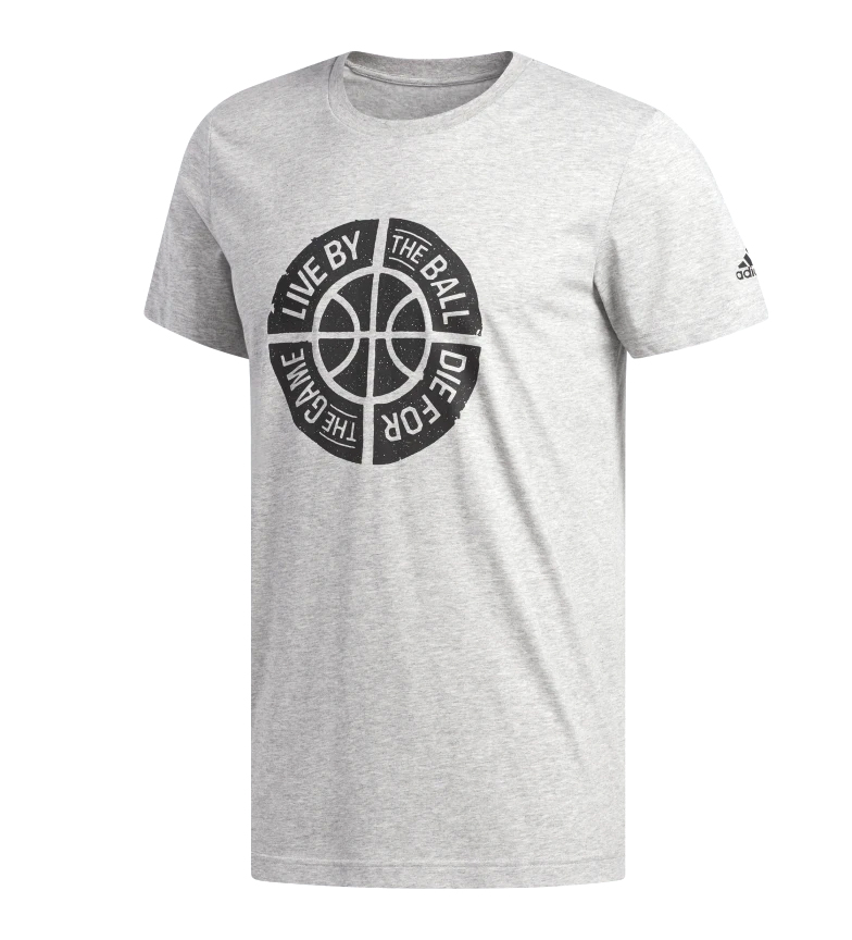 Camiseta Gris Graphic By Live Ball Adidas QrsxdCth