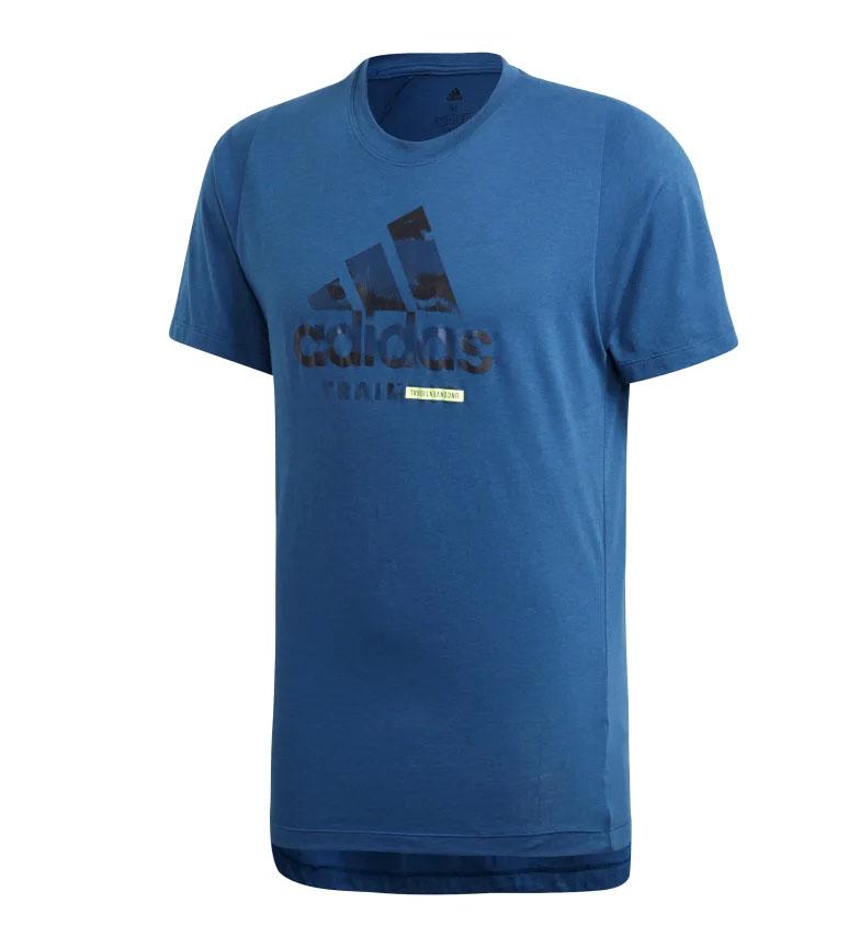 Comprar adidas Maglietta FreeLift 360 Logo grafico blu / Climalite