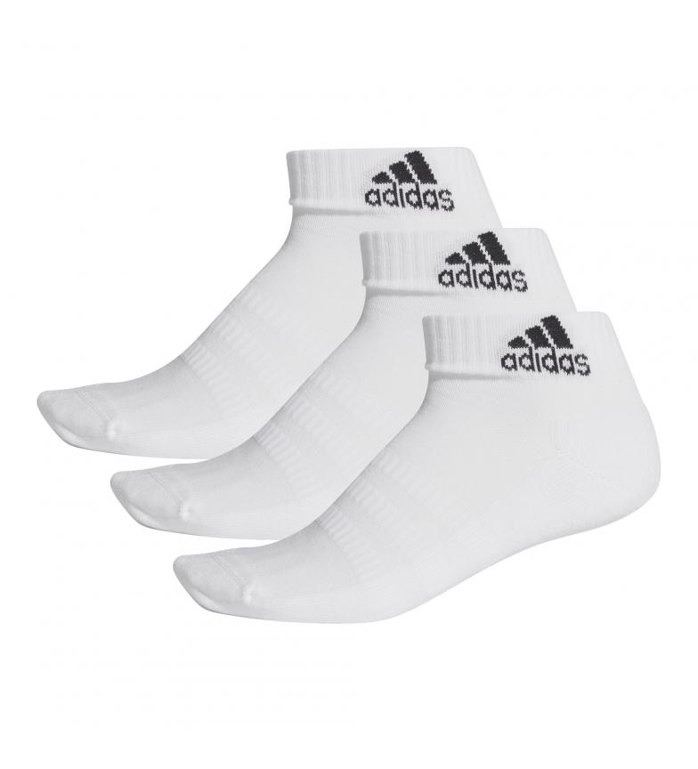 Comprar adidas Pack de 3 Pares de Calcetines Cush ANK 3PP blanco